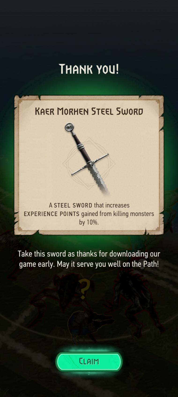 Click image for larger version.  Name:KaerMorhenSteelSword.jpg Views:1901 Size:86.2 KB ID:1966
